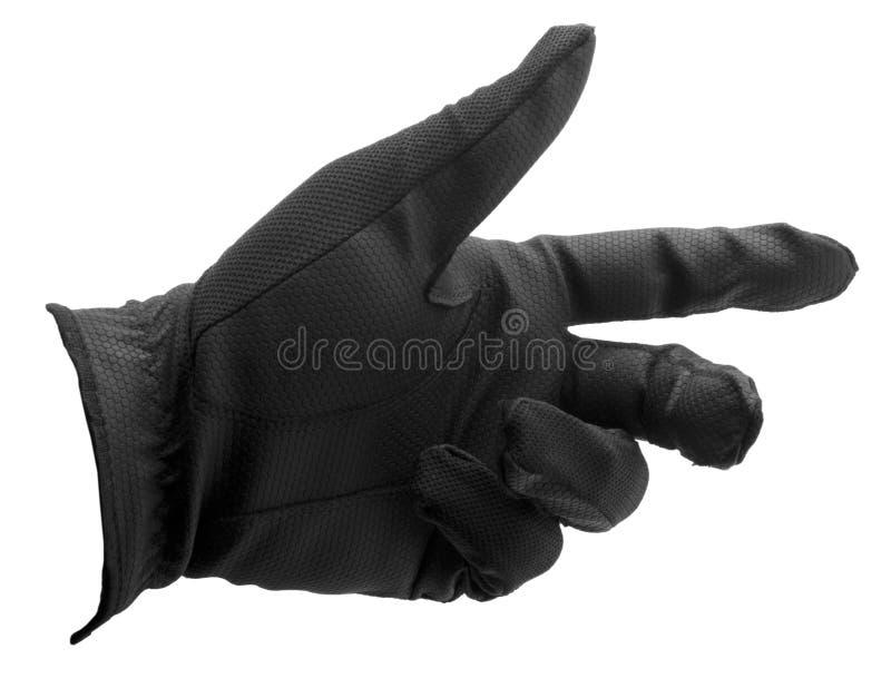 Zwarte golfhandschoen royalty-vrije stock afbeelding