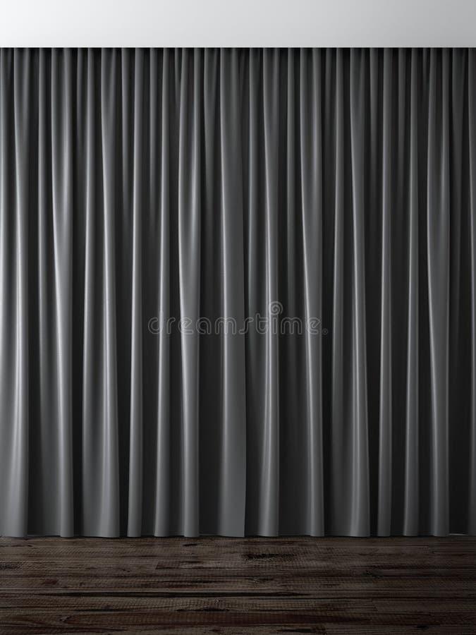 Zwarte gordijnen stock illustratie. Illustratie bestaande uit ...