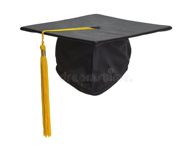 Zwarte Graduatiehoed stock afbeeldingen
