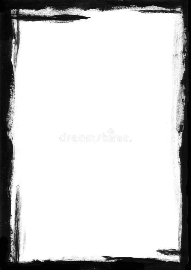 Zwarte Grens stock illustratie