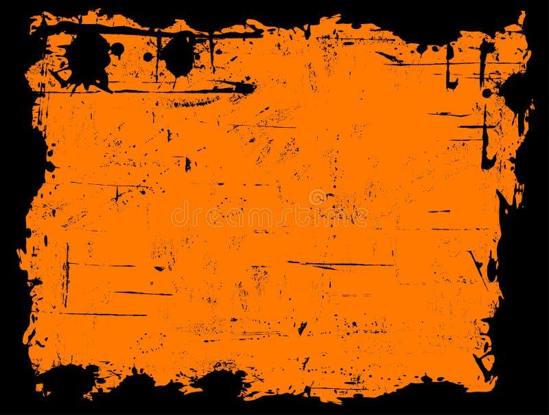 Zwarte Grens Grunged royalty-vrije illustratie