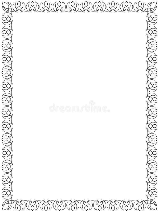 Zwarte grens met Keltisch ornament   vector illustratie