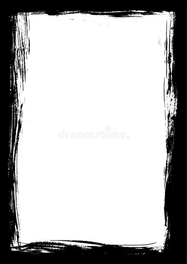Zwarte Grens van de slagen van de Verf vector illustratie