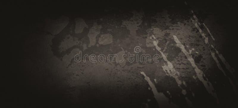 Zwarte grijze achtergrond met oude schrammen en korrelig gemarmerde witte grijze spatter, verstoord abstract schilderij vector illustratie