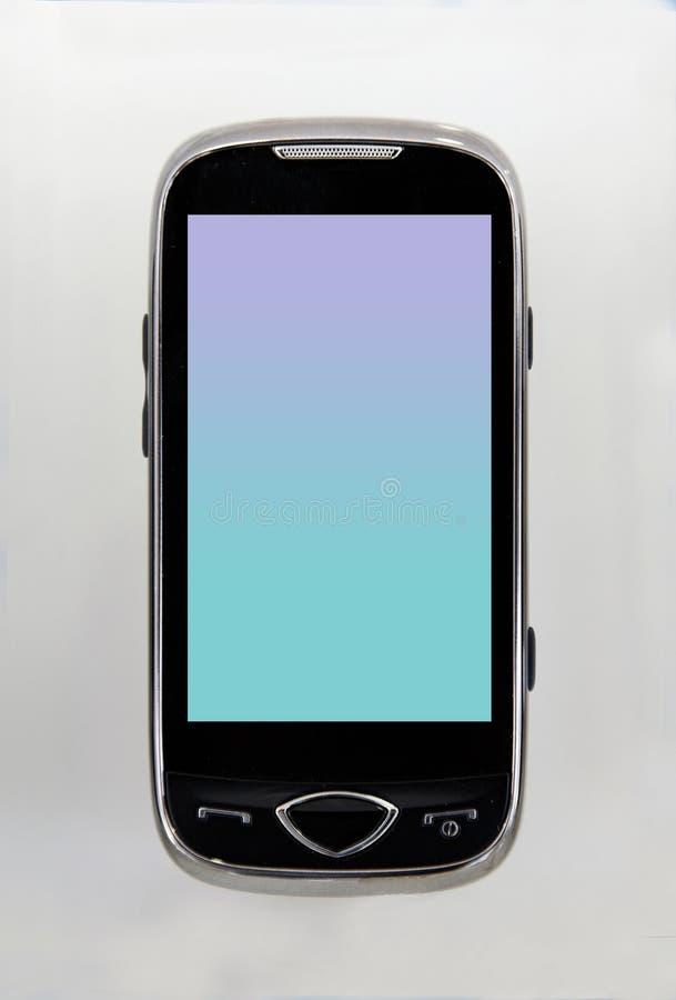 zwarte groen van de celtelefoon stock foto