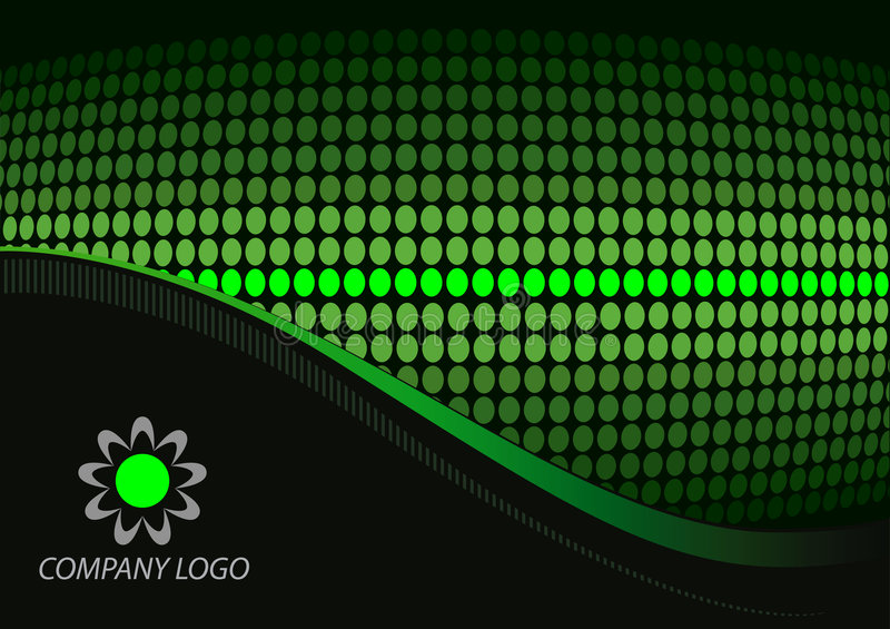 Zwarte groene samenvatting vector illustratie
