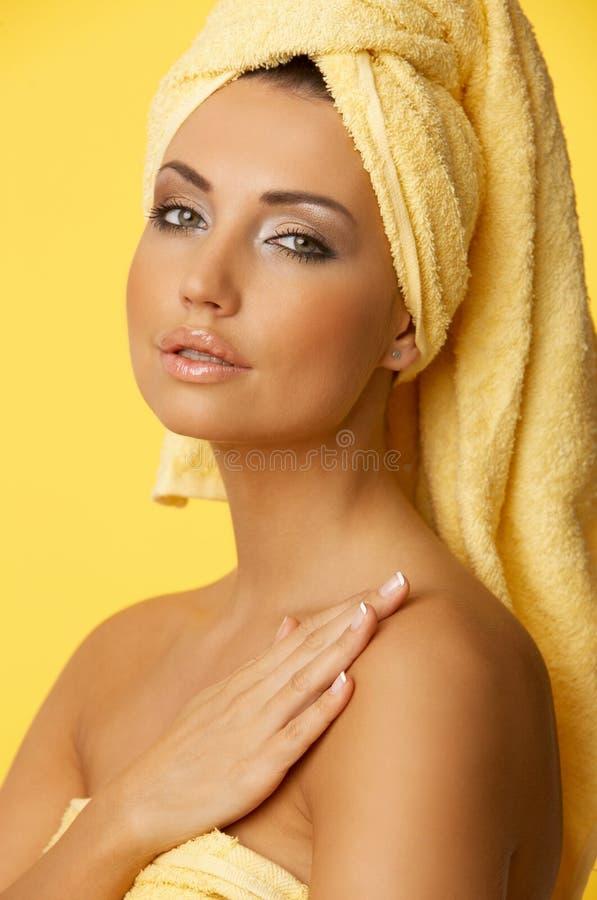 Zwarte haired Schoonheid stock fotografie