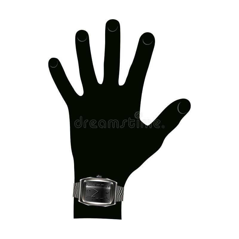 Zwarte hand vector illustratie