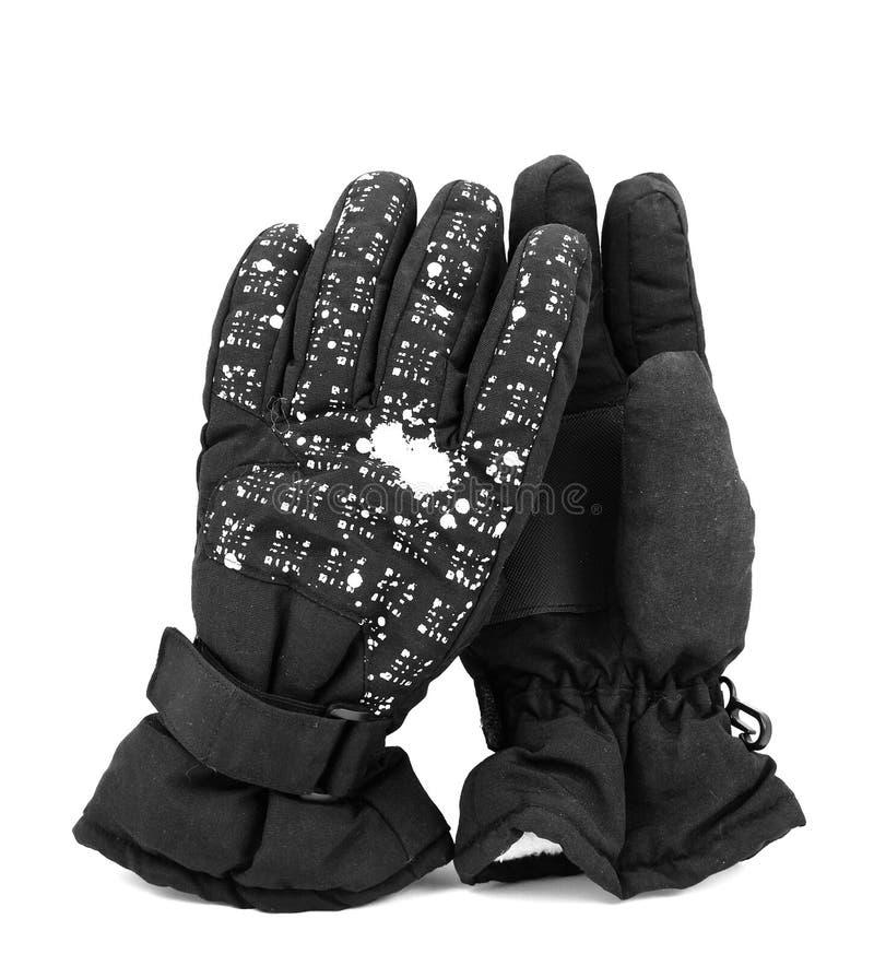 Zwarte handschoenen stock foto