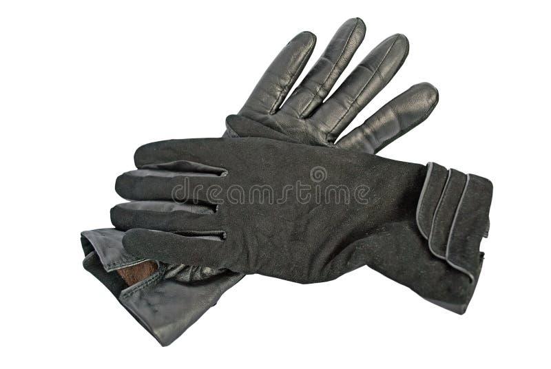 Zwarte handschoenen. royalty-vrije stock foto