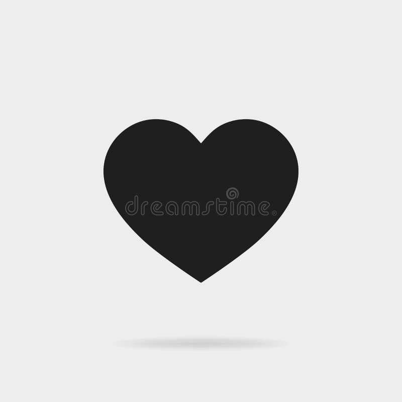 Zwarte hartvorm Als pictogram Sociaal media pictogram voor voor Instagram Vector eps10 stock illustratie