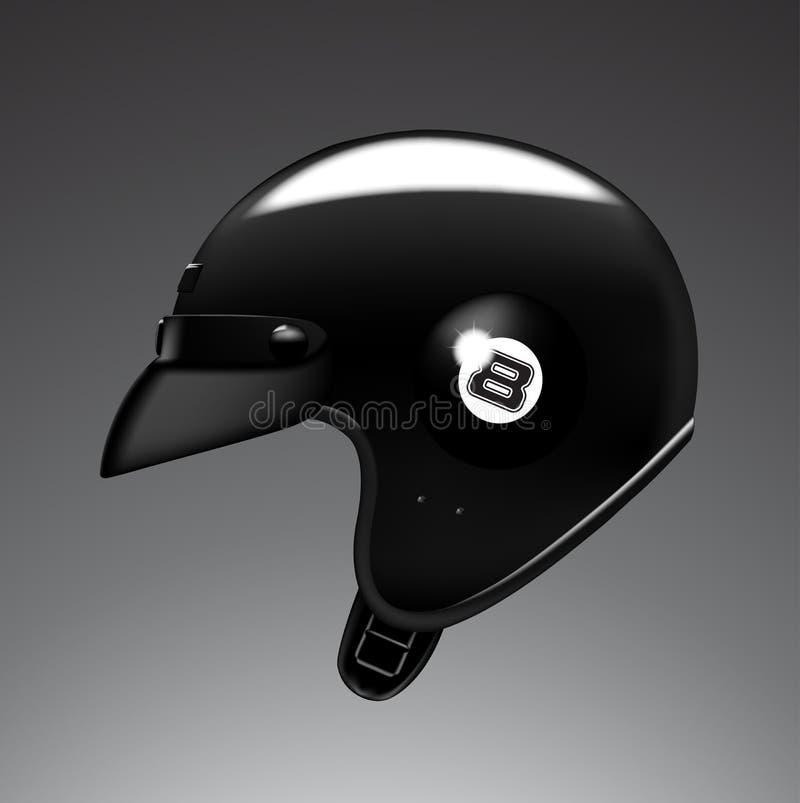 Zwarte helm royalty-vrije stock afbeelding