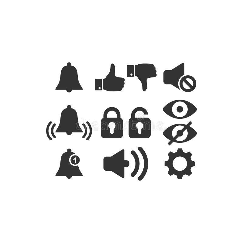 Zwarte het pictogram vectorreeks van Webpictogrammen vector illustratie