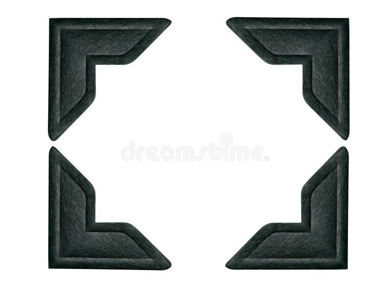 Zwarte Hoeken 1 van de Foto (weg inbegrepen voor elke hoek) royalty-vrije stock afbeeldingen