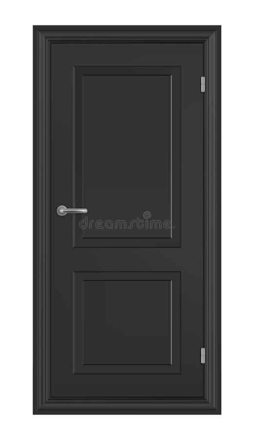 Zwarte houten deur royalty-vrije stock afbeeldingen