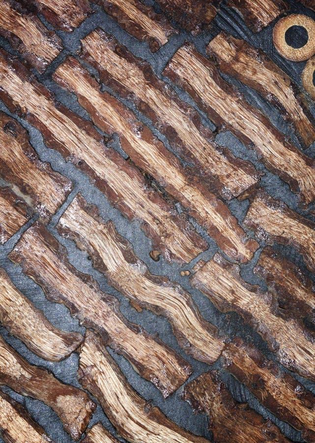 Zwarte houten muur stock foto's