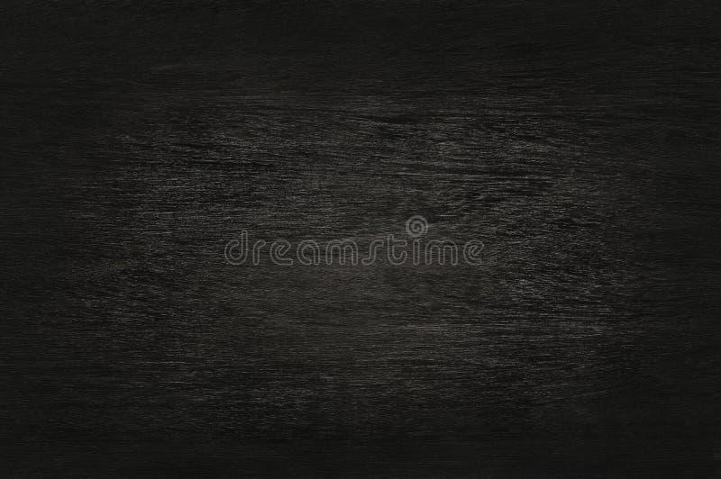 Zwarte houten muurachtergrond, textuur van donker schorshout stock afbeelding