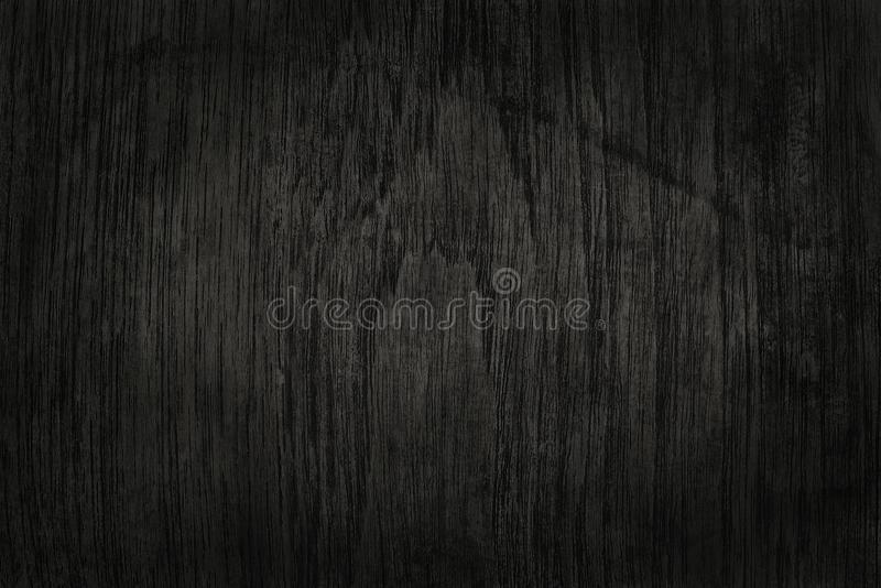 Zwarte houten muurachtergrond, textuur van donker schorshout royalty-vrije stock fotografie