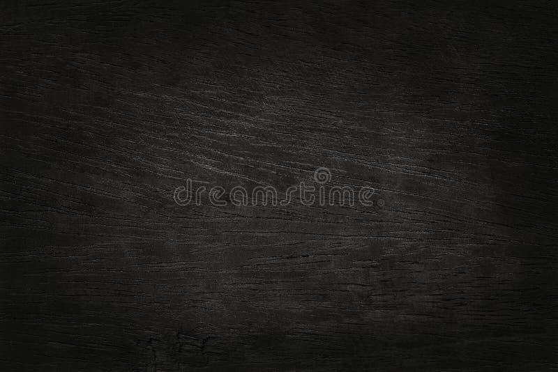 Zwarte houten muurachtergrond, textuur van donker schorshout met oud natuurlijk patroon royalty-vrije stock afbeelding