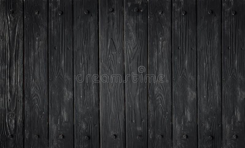 Zwarte houten textuur oude panelen als achtergrond royalty-vrije stock fotografie