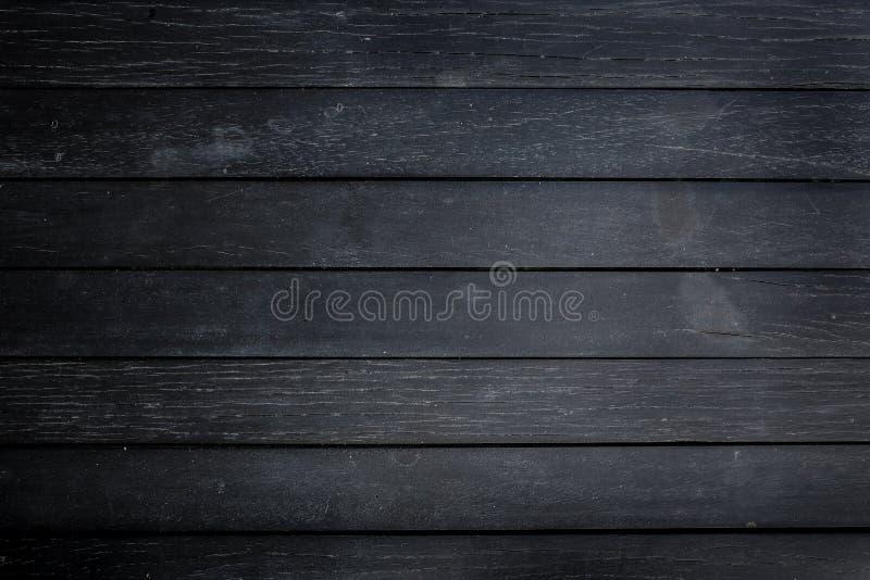 Zwarte houten textuurachtergrond stock foto's