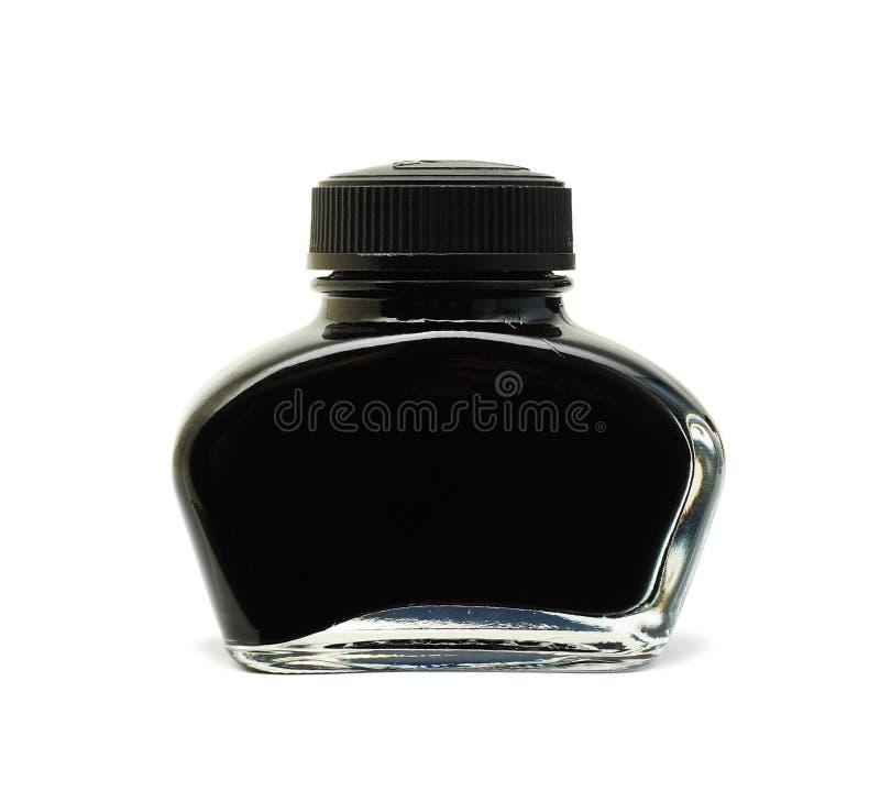 Zwarte inkt royalty-vrije stock afbeelding