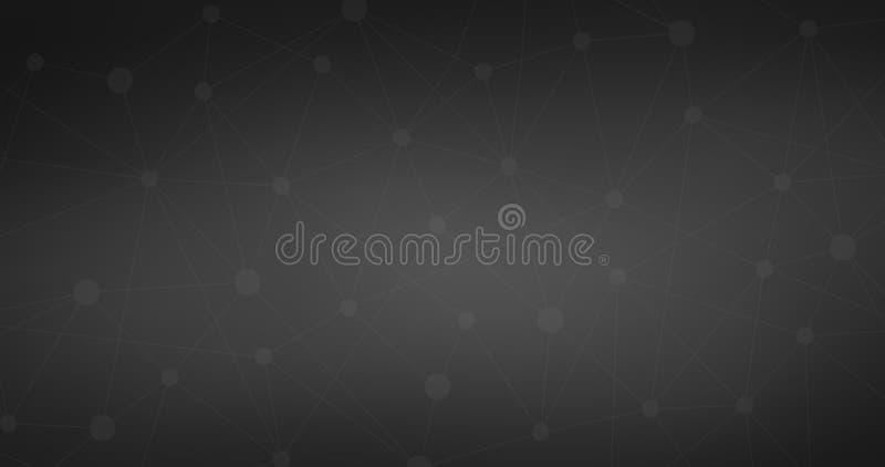 Zwarte Internetverbinding, moleculaire abstracte achtergrond betekenis van wetenschap en technologie grafisch ontwerp Vector illu vector illustratie