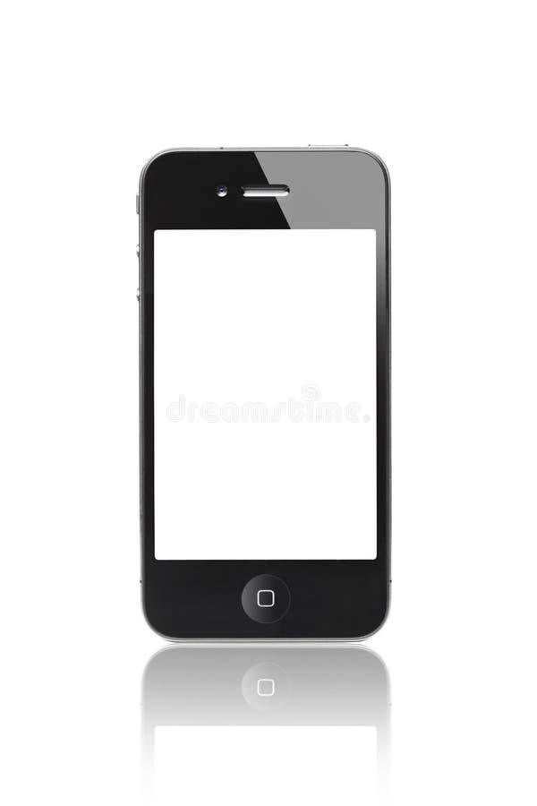 Zwarte iPhone 4s met het Leeg Scherm royalty-vrije stock foto