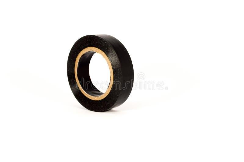 Zwarte isolerende band op een witte achtergrond stock fotografie