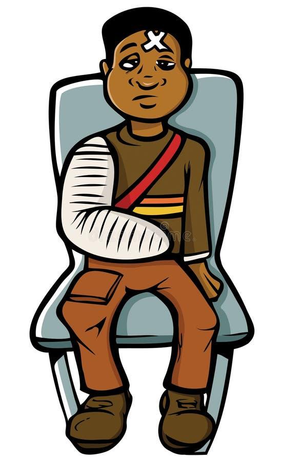 Zwarte jongen in gegoten stock illustratie