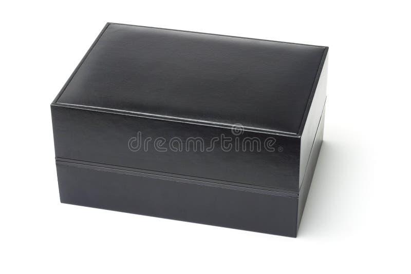 Zwarte juwelendoos stock foto's