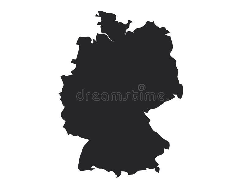 Zwarte kaart van Duitsland vector illustratie