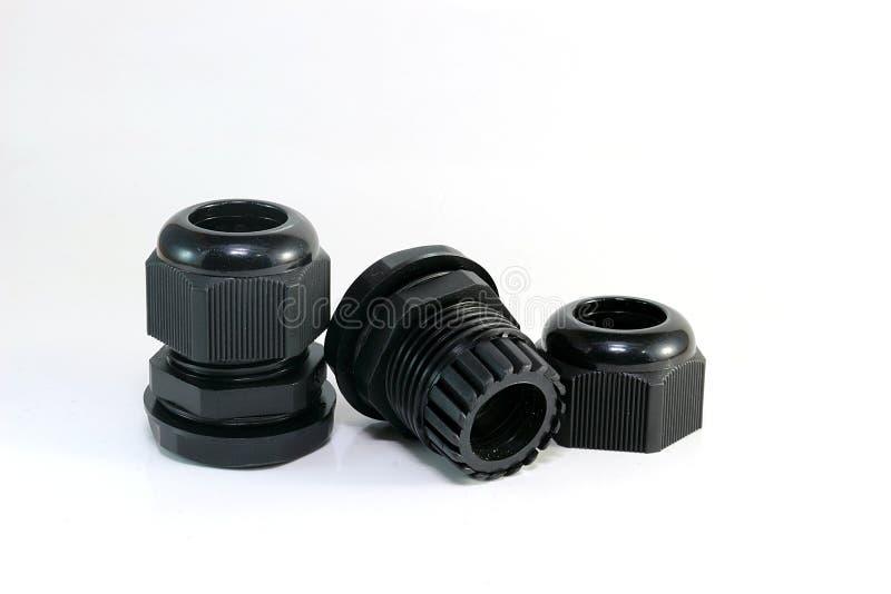 Zwarte kabelklier stock afbeelding