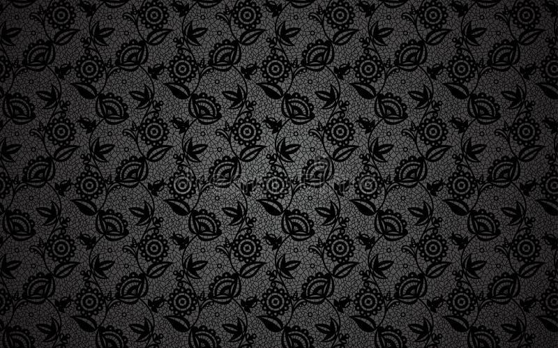Zwarte kantachtergrond stock illustratie