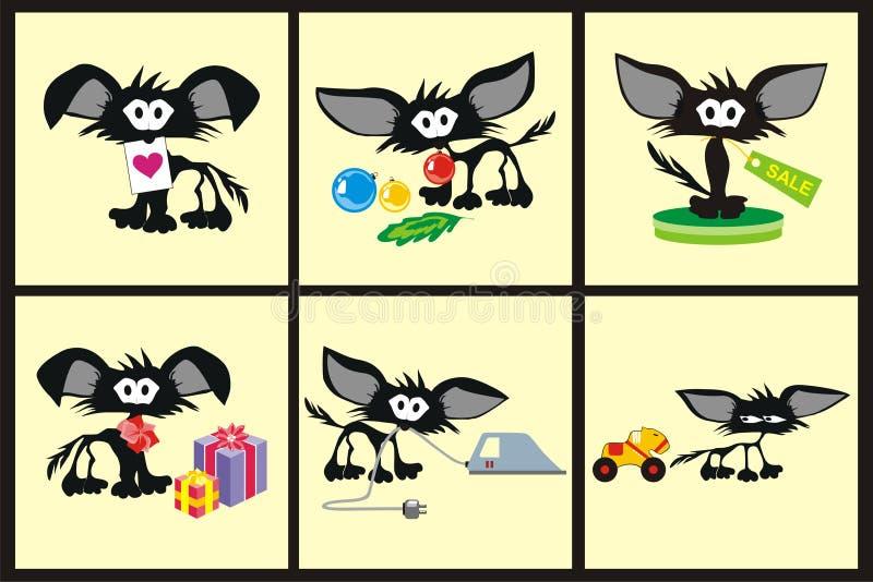 Zwarte katten vector illustratie