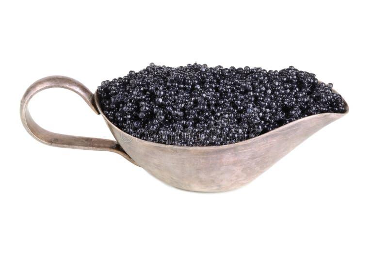 Zwarte kaviaar royalty-vrije stock afbeeldingen