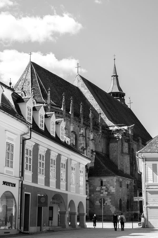 Zwarte Kerk (Biserica Neagra) in Brasov, Roemenië royalty-vrije stock afbeelding
