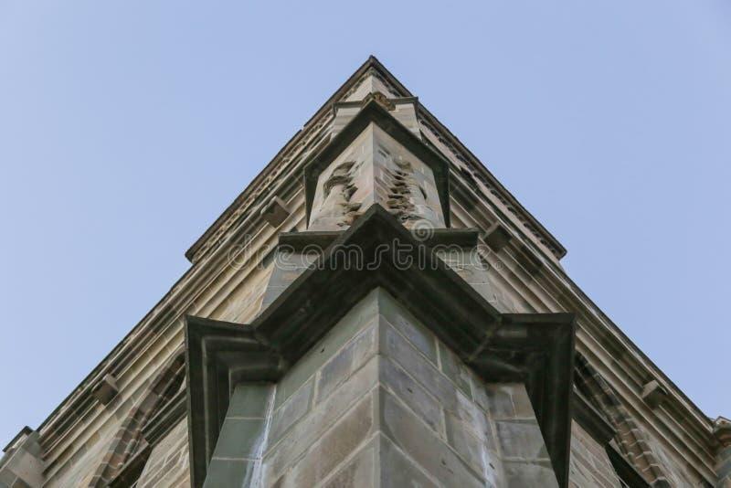 Zwarte Kerk in Brasov details stock afbeeldingen