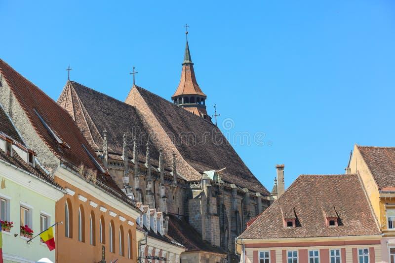Zwarte Kerk in Brasov details stock afbeelding
