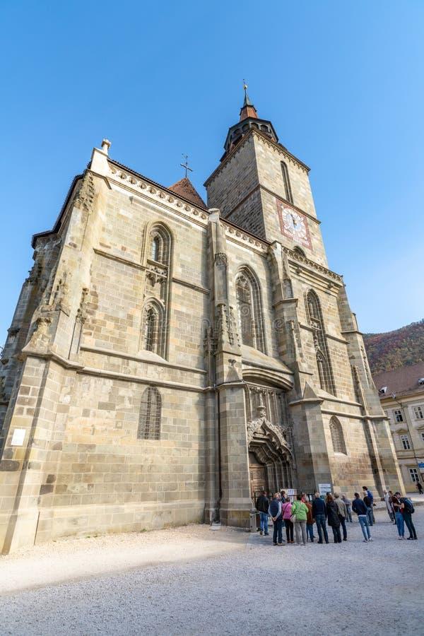 Zwarte Kerk in Brasov, Roemenië stock foto's
