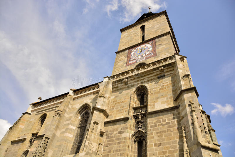 Zwarte Kerk in Brasov, Roemenië royalty-vrije stock afbeelding