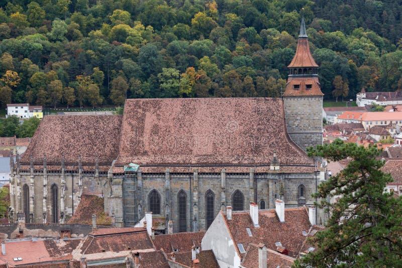 Zwarte Kerk in Brasov Roemenië royalty-vrije stock foto's