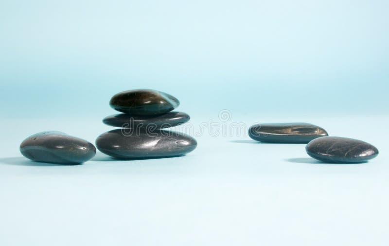 Zwarte kiezelstenen stock foto
