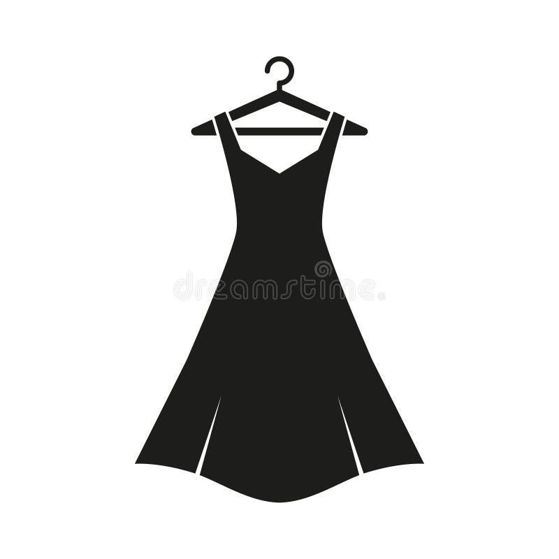 Zwarte kleding op hanger vector illustratie