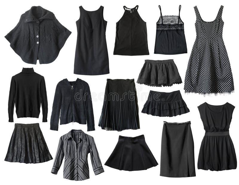 Zwarte kleren stock afbeelding