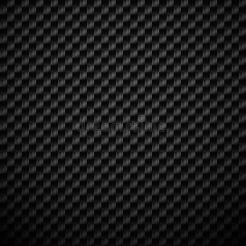 Zwarte koolstof geweven achtergrond met de structuur van het vezelweefsel stock illustratie