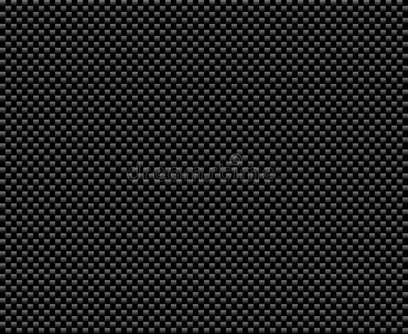 Zwarte koolstofvezel stock illustratie