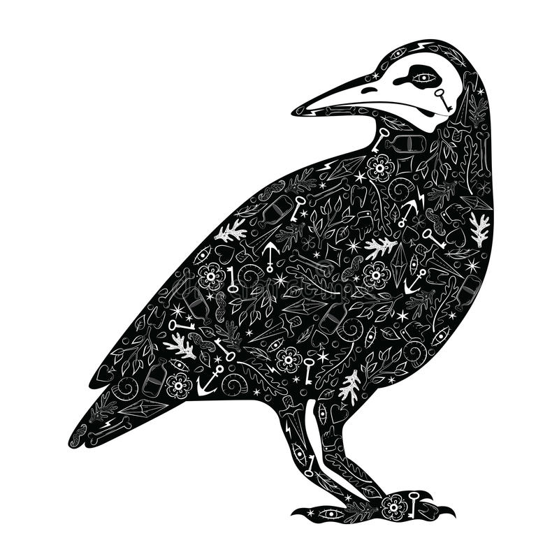 Zwarte Kraai royalty-vrije illustratie