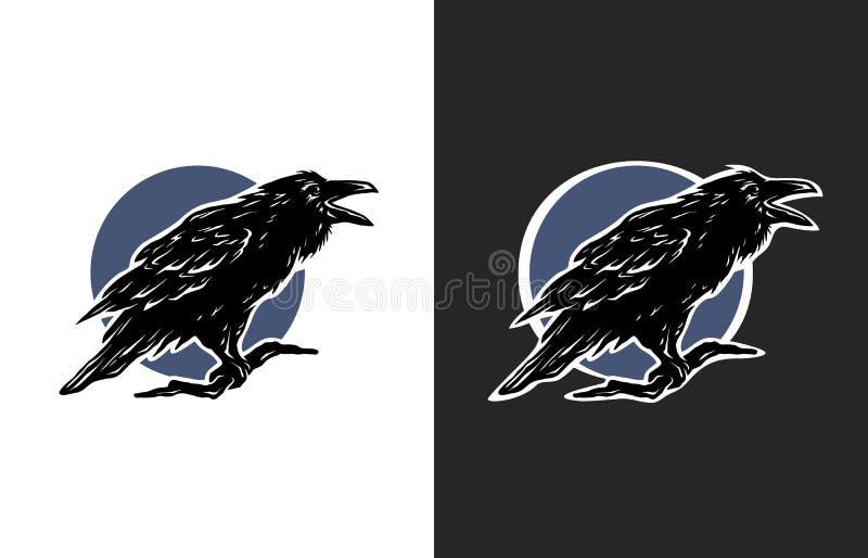 Zwarte Kraai, twee opties royalty-vrije illustratie