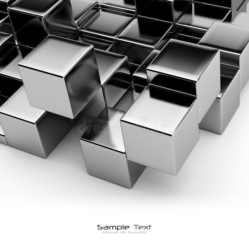 Zwarte kubussen abstracte achtergrond vector illustratie
